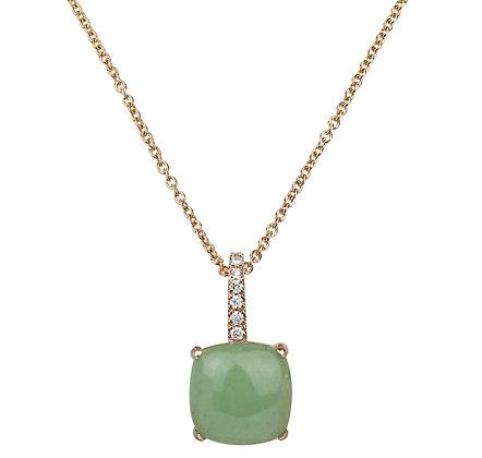 Aventurine and Diamonds Empire Necklace