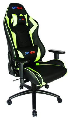 Skynew Gamingbüro Stuhl Alpha Schwarz SeriesVerA Grün ZuikOPXT