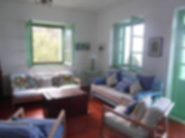 Sitting Room in the Music House, holiday villa for rent on the island of Skopelos, including a pool, on the island where Mamma Mia was filmed.