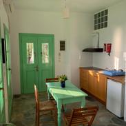 The kitchenette area in 'Bouzouki'