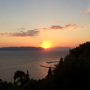 View of the sunset from The Music House terrace