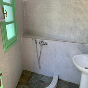One of the bathrooms in the Music House