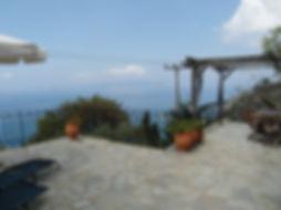 The terrace of the Music House, villa for rent Skopelos, Sporades, Greece.