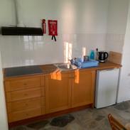 The kitchenette in 'Bouzouki'