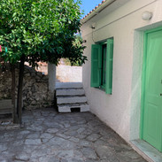 The main entrance to the property and private patio