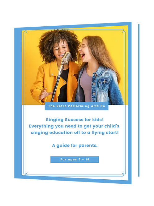 Singing Success for kids; a parent's guide