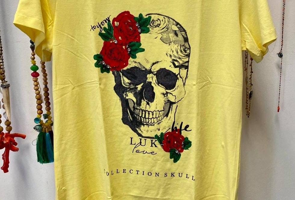 T-shirt met skull