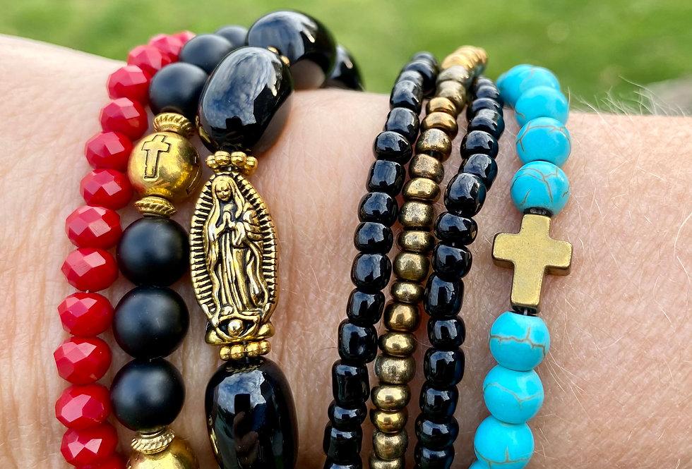 T'As Vu la Vierge!? Armband Holy Black