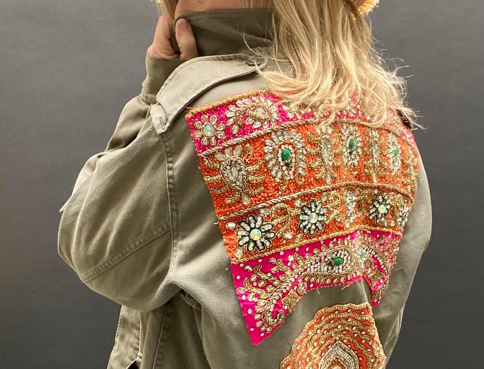 Vintage army jacket Mamz'elle Zoé Pink & Orange