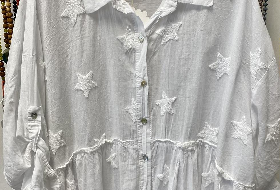 Witte bloes met sterren
