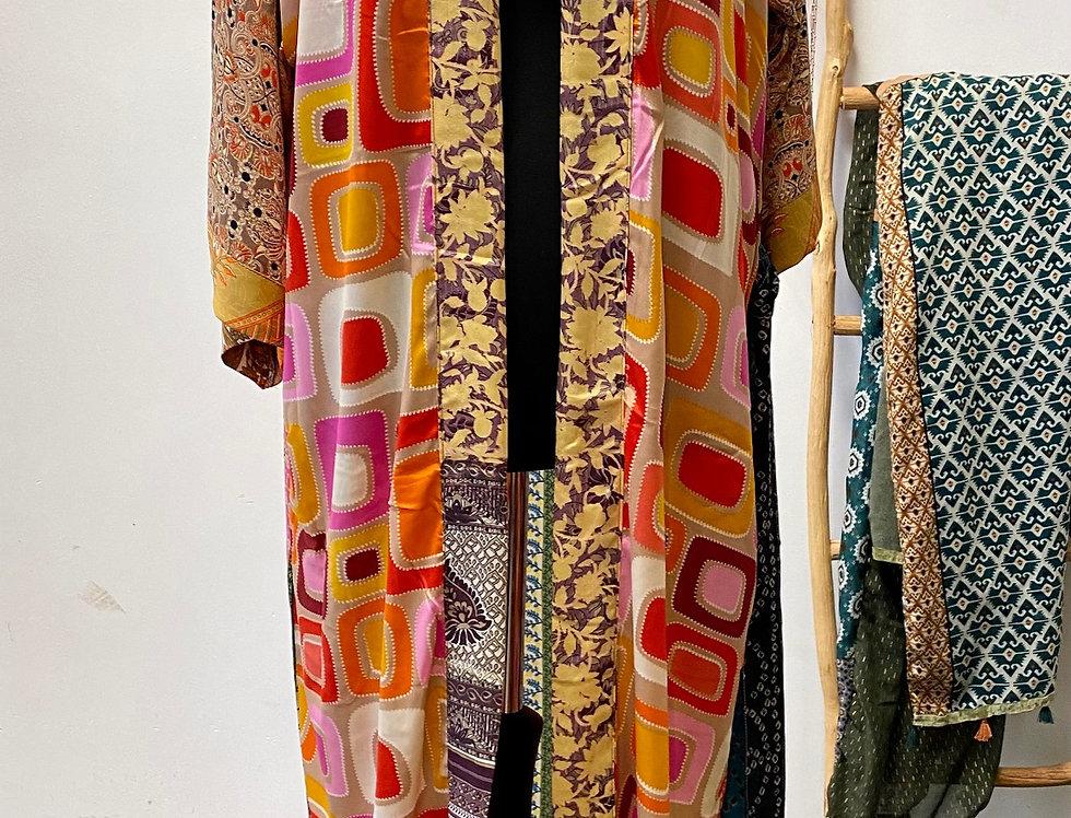 Lange kimono My Paradise 70ties motieven