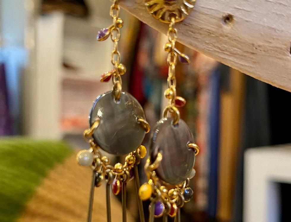 Hangers Louisa met zwarte parelmoer