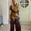 Thumbnail: Losse broek met prints roestbruin met blauw