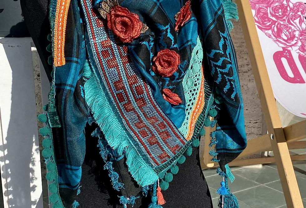 Chèche Bellezza Sunshine turquoise