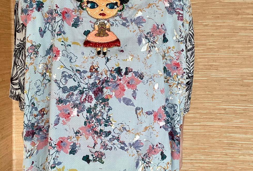 Korte kimono Mamz'elle Zoé ' Frieda Kalho'
