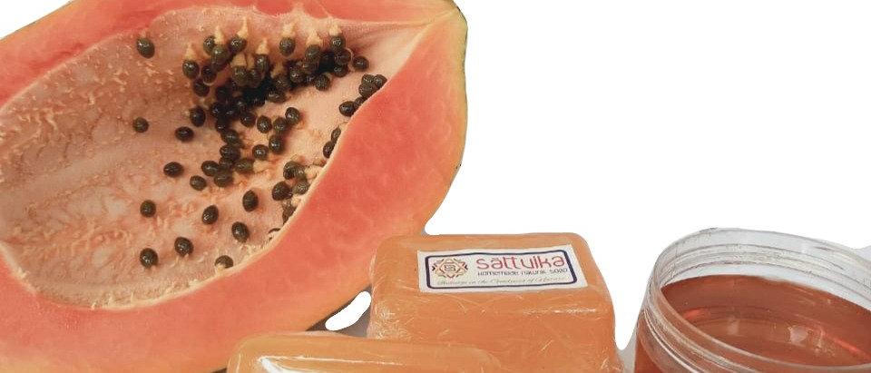 Coconut milk, Papaya & Honey Soap (75 gms)