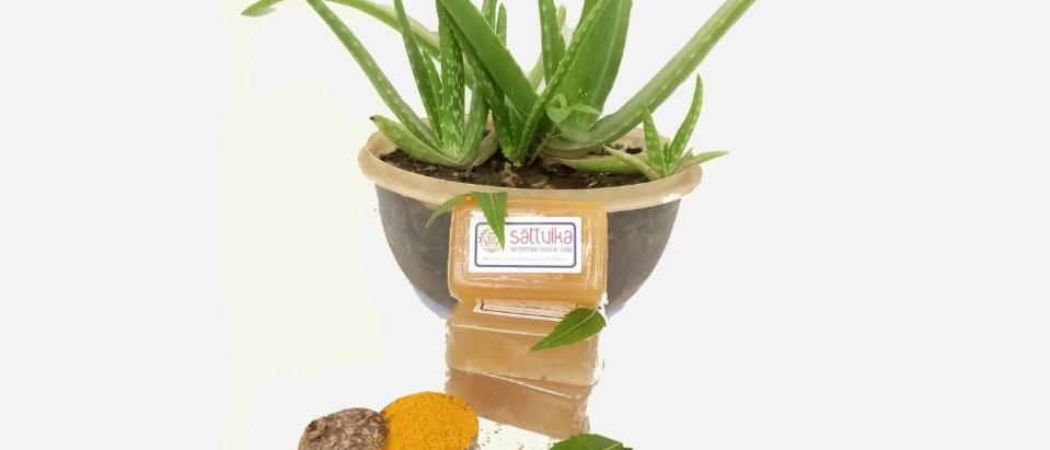 Aloe vera, Neem & Kasturi Turmeric Soap (75 gms)
