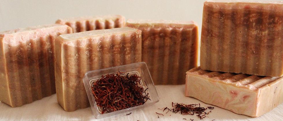Handmade Saffron Sandalwood Soap Mysore