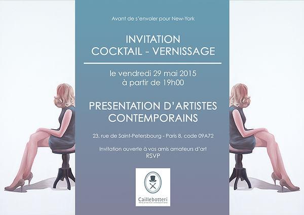 Cocktail Vernissage 2015 - Vente privée d'art contemporain - Caillebotteri