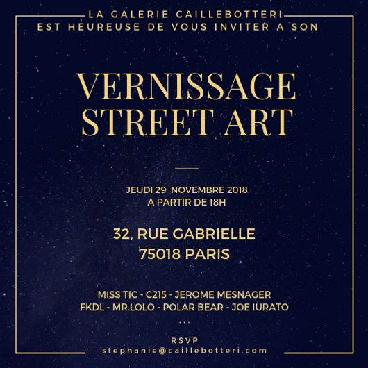 Vernissage Street Art 2018 - Vente privée d'art contemporain - Caillebotteri