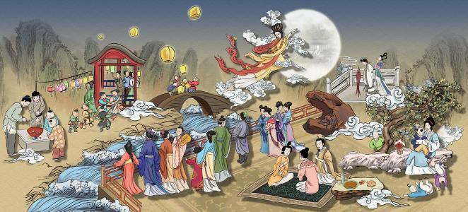 Chang'e part sur la lune