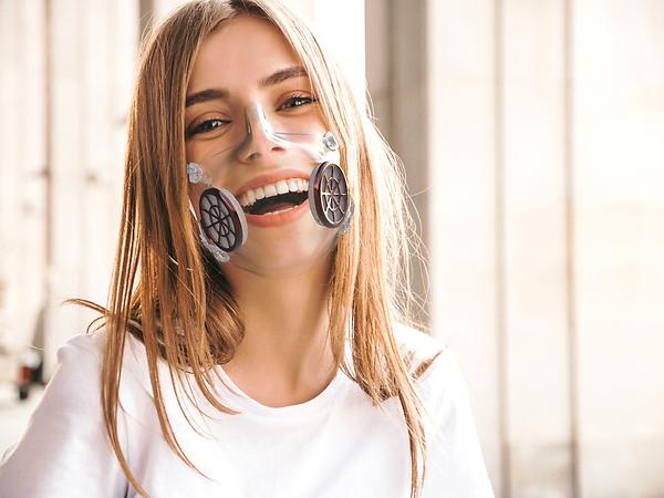 Masque de protection transparent - Filtres chromés - iD masque