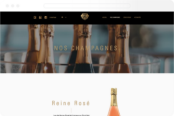 Projet création de site web