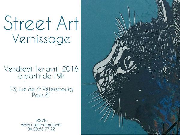 Street Art Vernissage 2016 - Vente privée d'art contemporain - Caillebotteri