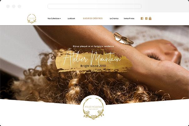 Projet création de site web - atelier mountain