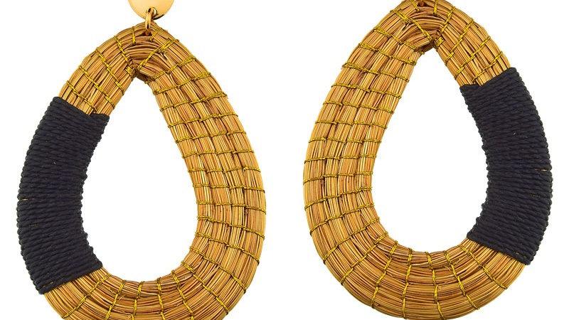 Boucles d'oreilles Goute doré