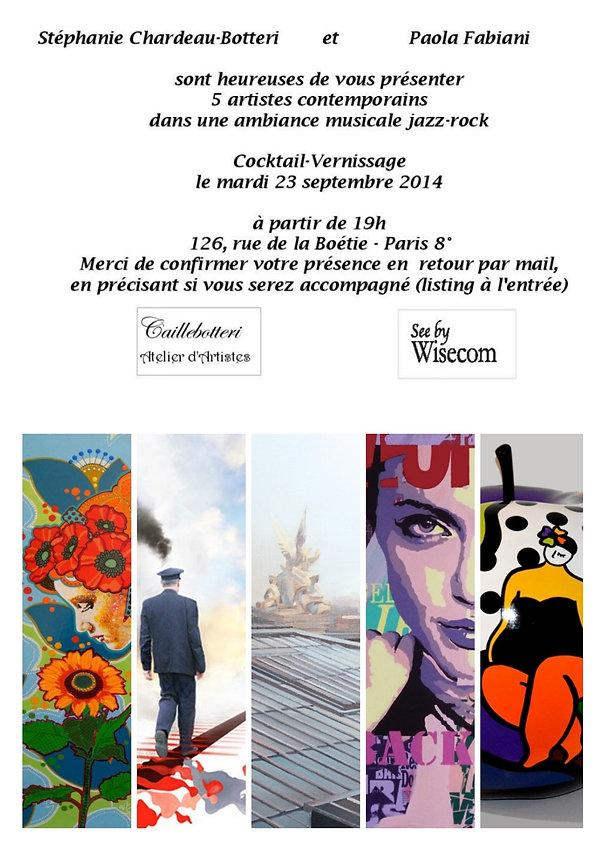 Cocktail Vernissage 2014 - Vente privée d'art contemporain - Caillebotteri