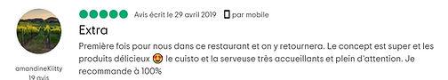 Témoignages clients - L'ulivàia Pizzeria