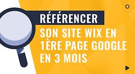 formation référencer son site wix en 1ère page google en 3 mois