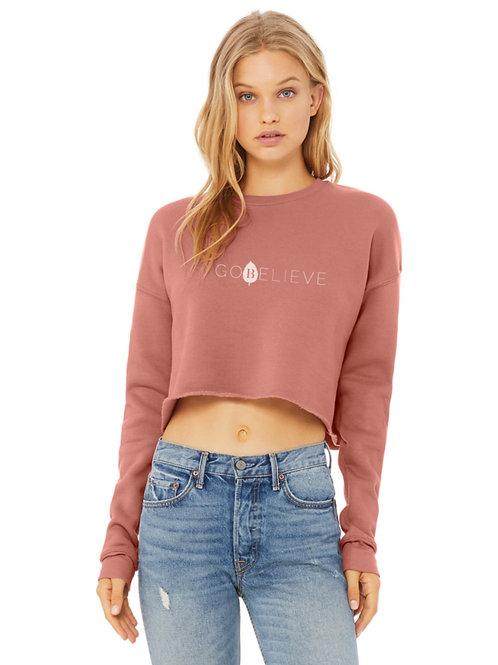 Women's Modern Logo Crop Sweater