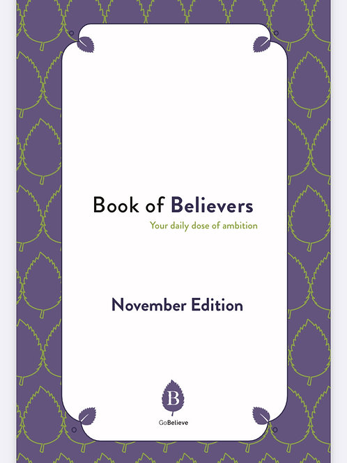 Book of Believers- November Edition