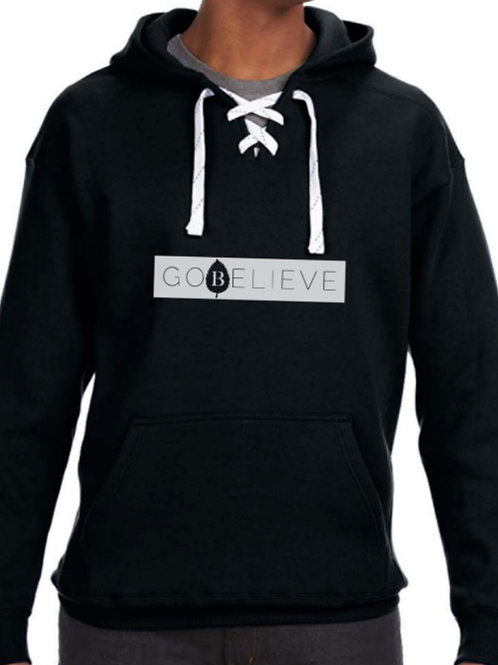 Bar Logo Lace-Up Hoodie