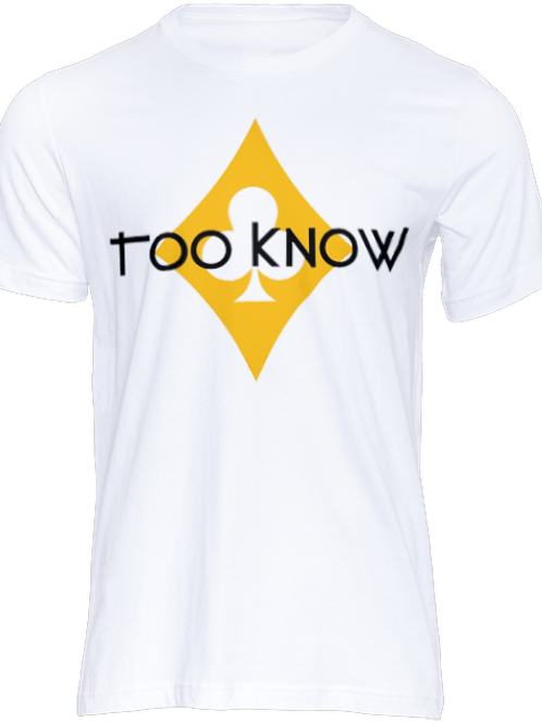 Gold Too Know Logo T-Shirt (White)