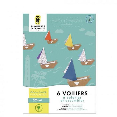 6 voiliers Pirouette Cacahouète
