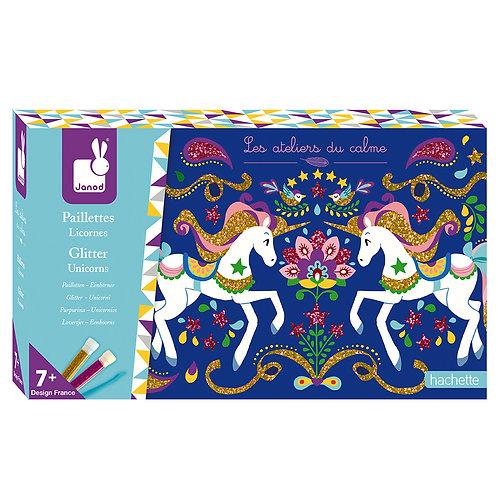 Kit créatif paillettes licornes Janod