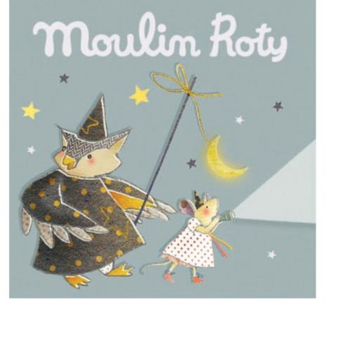 Boîte grise de 3 disques pour lampe à histoires Il était une fois Moulin Roty