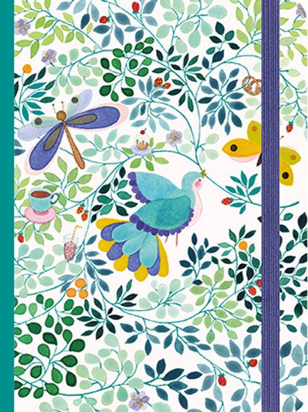 Grand Carnet oiseaux élastique