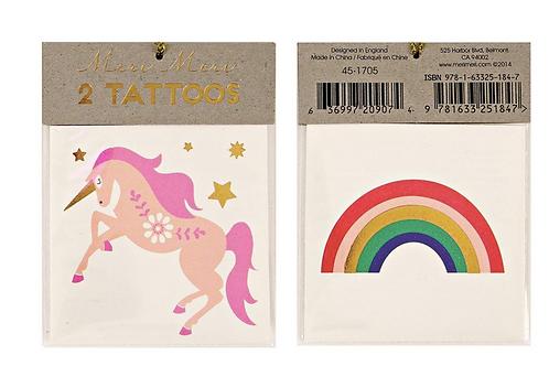 Tatouage : La Licorne et l 'arc - en - ciel