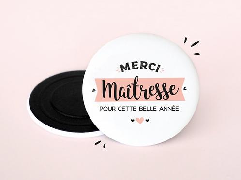 MAGNET MERCI MAÎTRESSE POUR CETTE BELLE ANNÉE