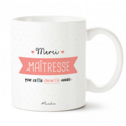 MUG MERCI MAÎTRESSE ... CHOUETTE ANNÉE