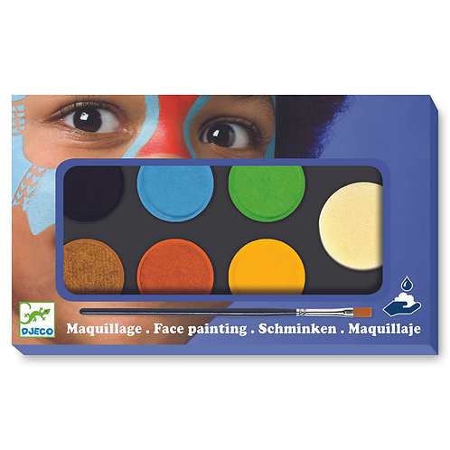 Maquillage palette 6 couleurs nature