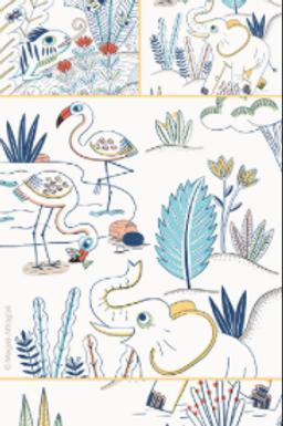 Lé de Papier Peint Savannah Bleu