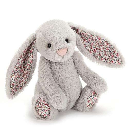Peluche Lapin Blossom - gris - 31 cm
