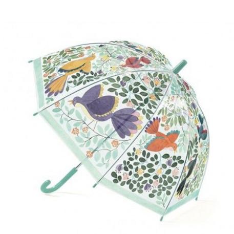 Parapluie fleurs oiseux
