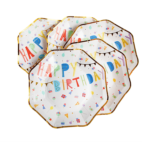 Assiettes  HAPPY BIRTHDAY PAR 8