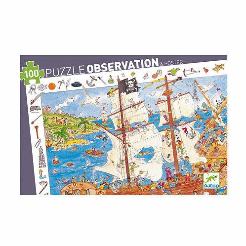 Puzzle d'observation Les pirates - Djeco